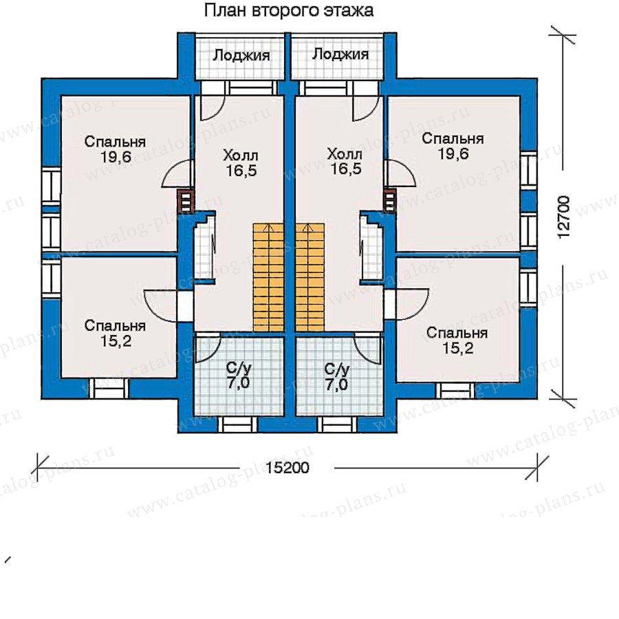 План 3-этажа проекта 30-44