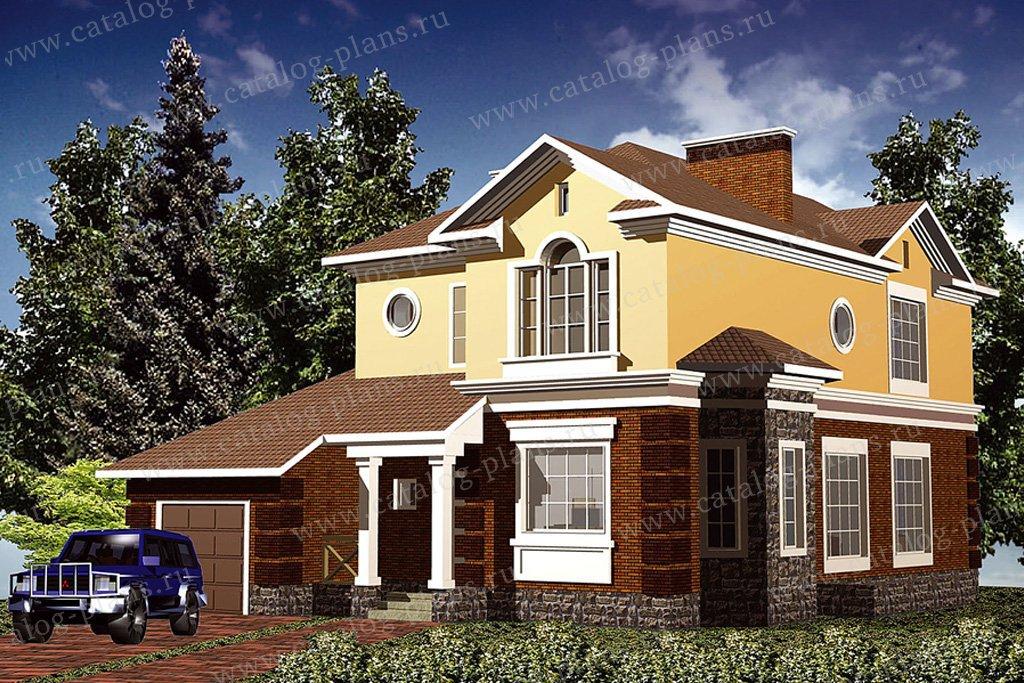 Проект жилой дом #30-61 материал - кирпич, стиль классический