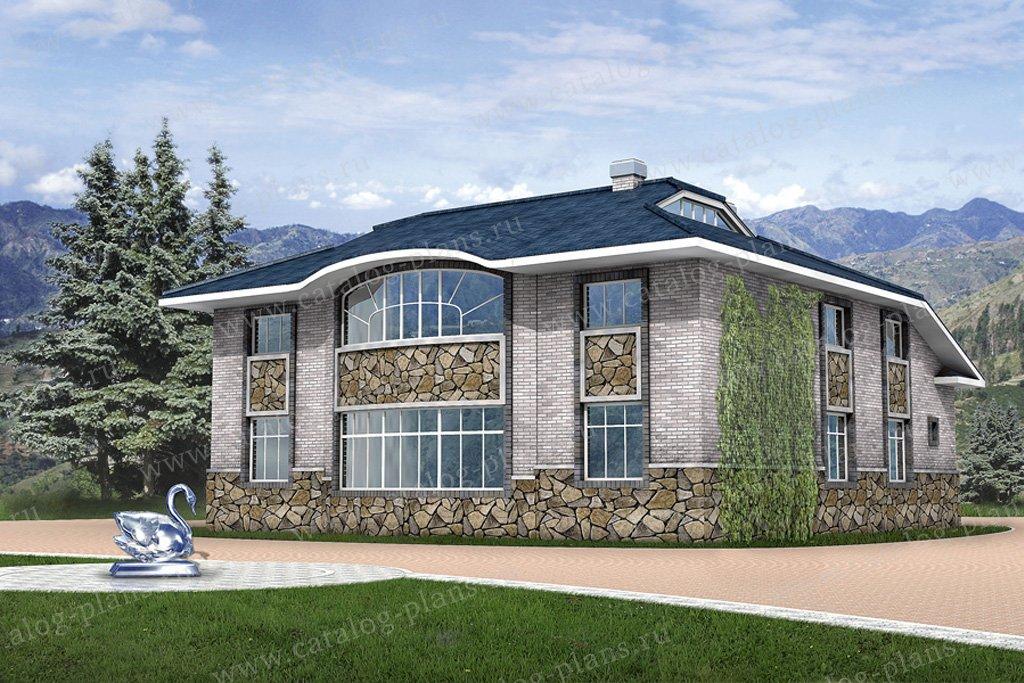 Проект жилой дом #31-84 материал - кирпич, стиль европейский
