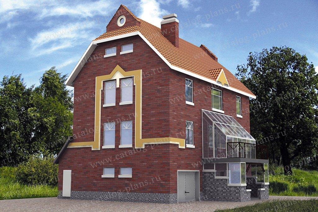 Проект жилой дом #30-50 материал - кирпич, стиль европейский