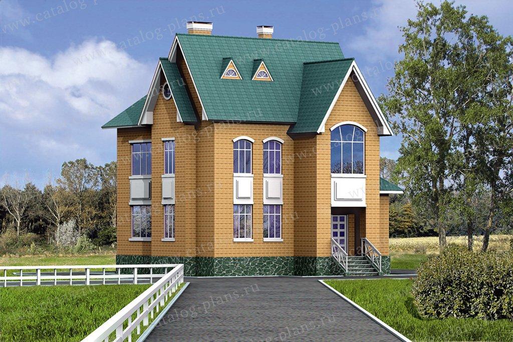 Проект жилой дом #31-64 материал - кирпич, стиль европейский