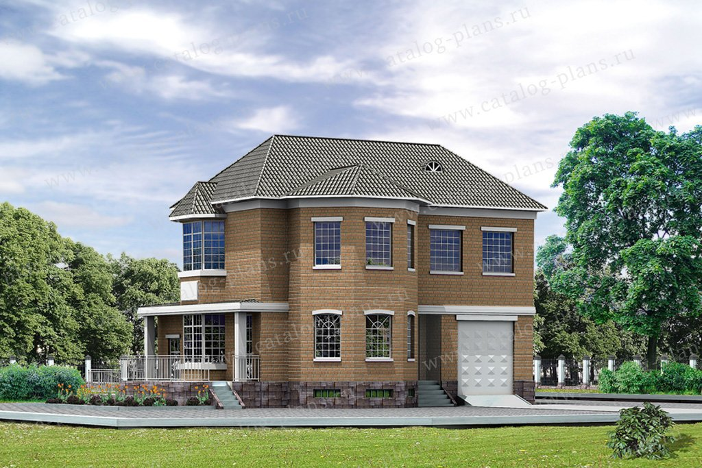 Проект жилой дом #31-65 материал - кирпич, стиль английский