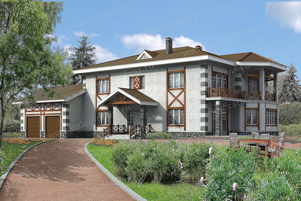 Проект жилой дом #31-51 материал - кирпич, стиль фахверк