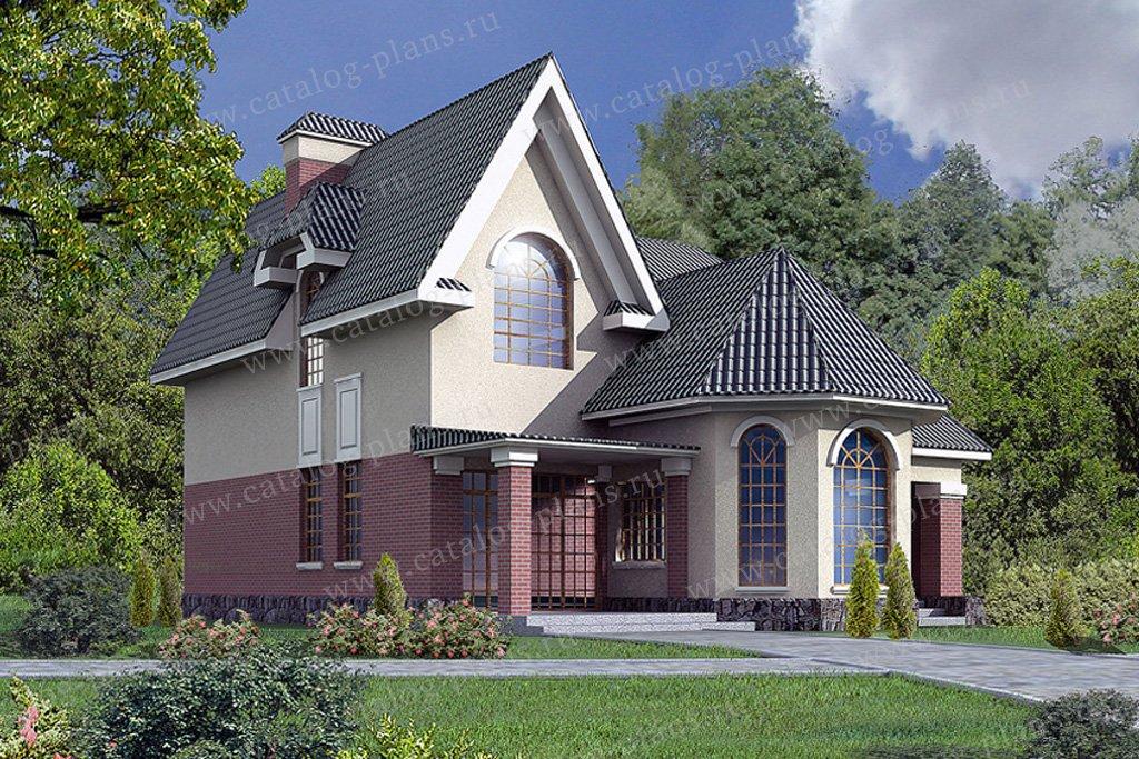 Проект жилой дом #31-67 материал - кирпич, стиль европейский