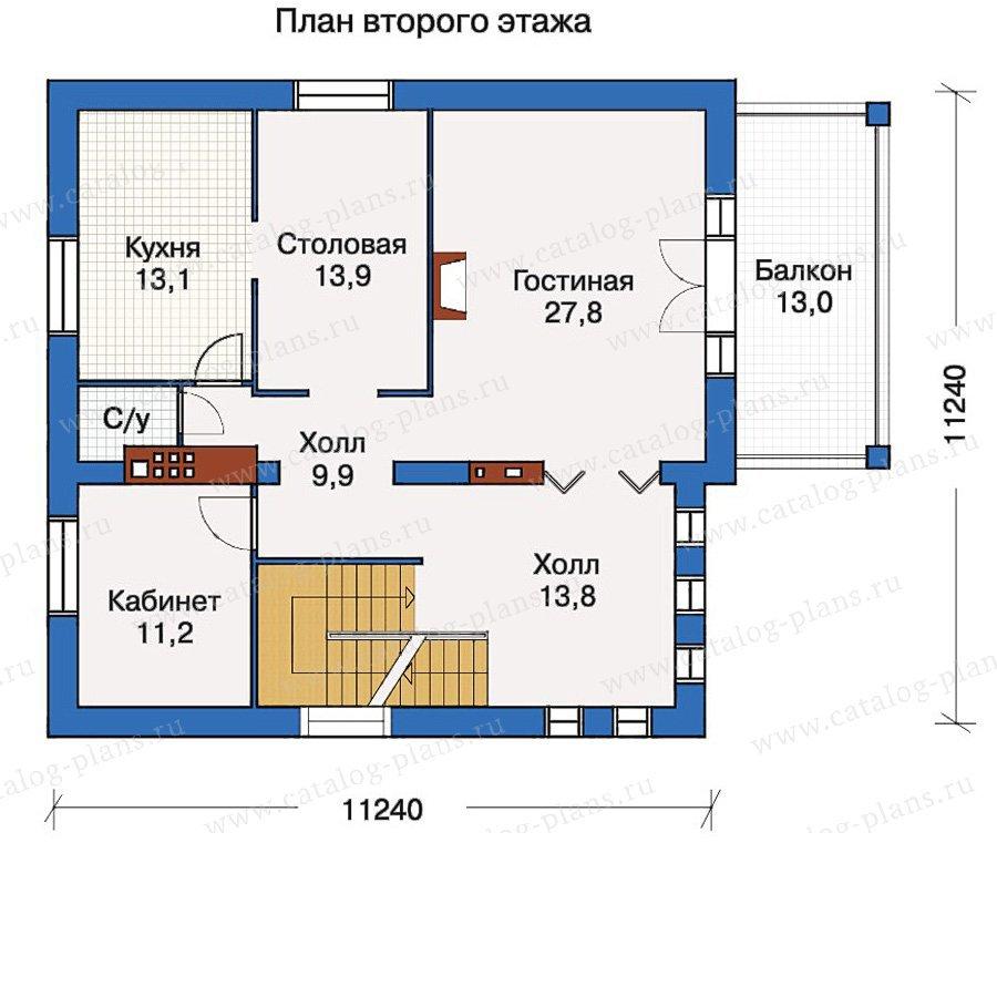 План 2-этажа проекта 30-55