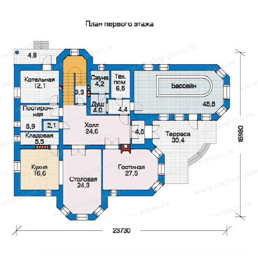План 1-этажа проекта 31-40