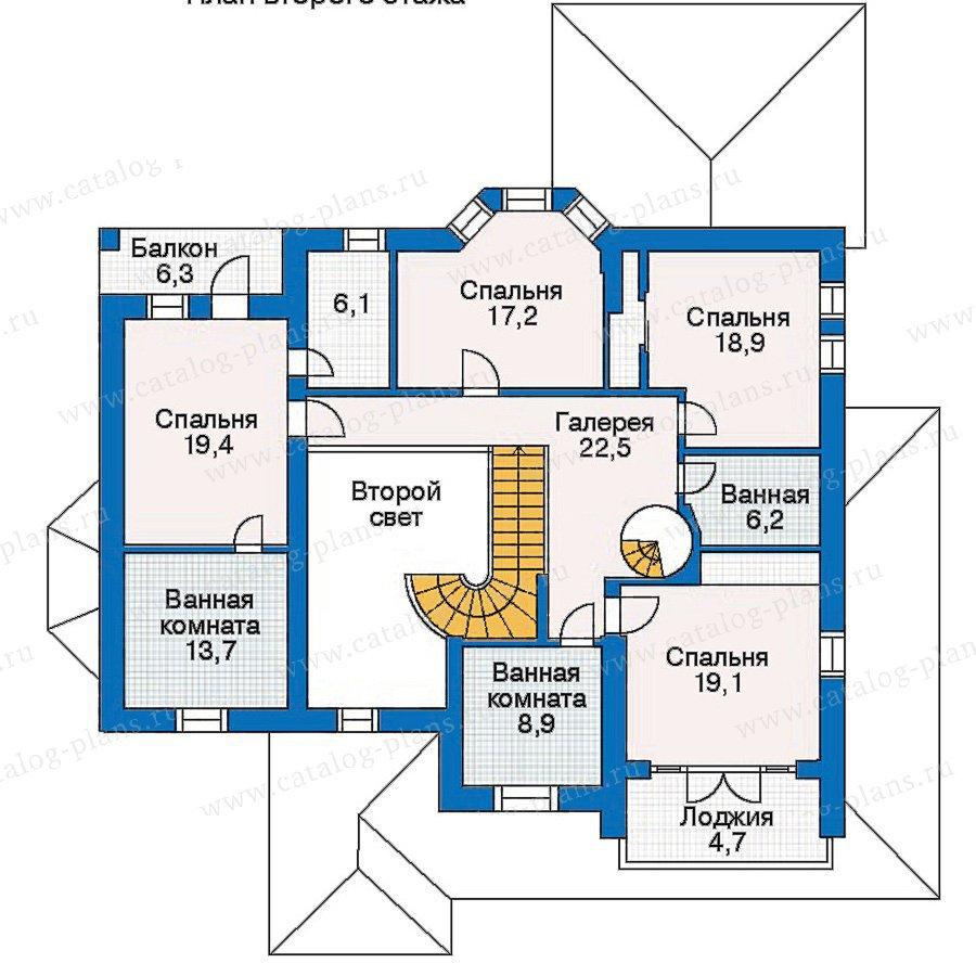 План 2-этажа проекта 30-60