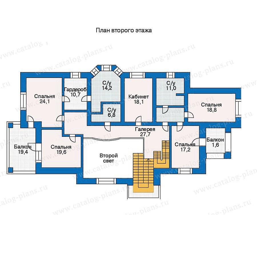 План 2-этажа проекта 30-57