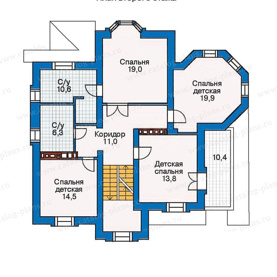 План 3-этажа проекта 30-35