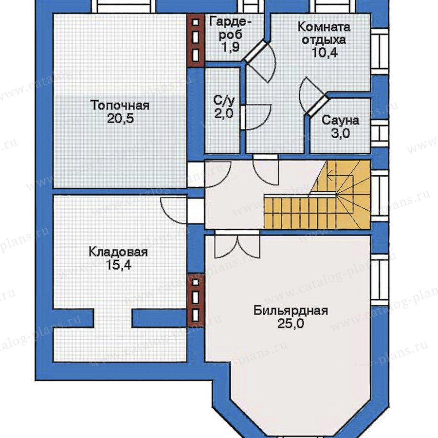 План 1-этажа проекта 31-83