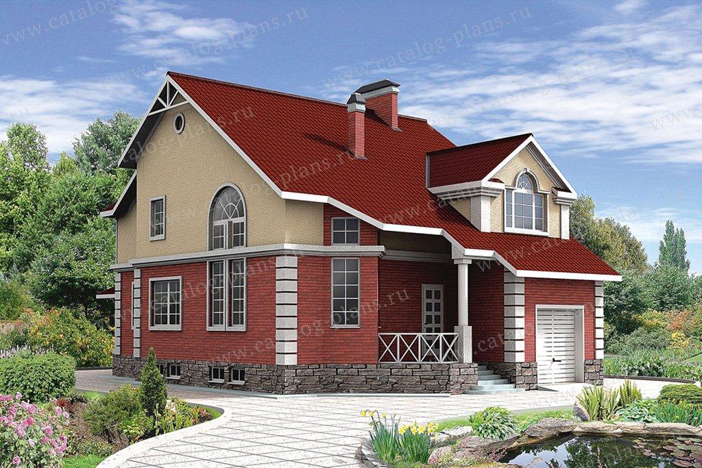 Проект жилой дом #30-65 материал - кирпич, стиль классический