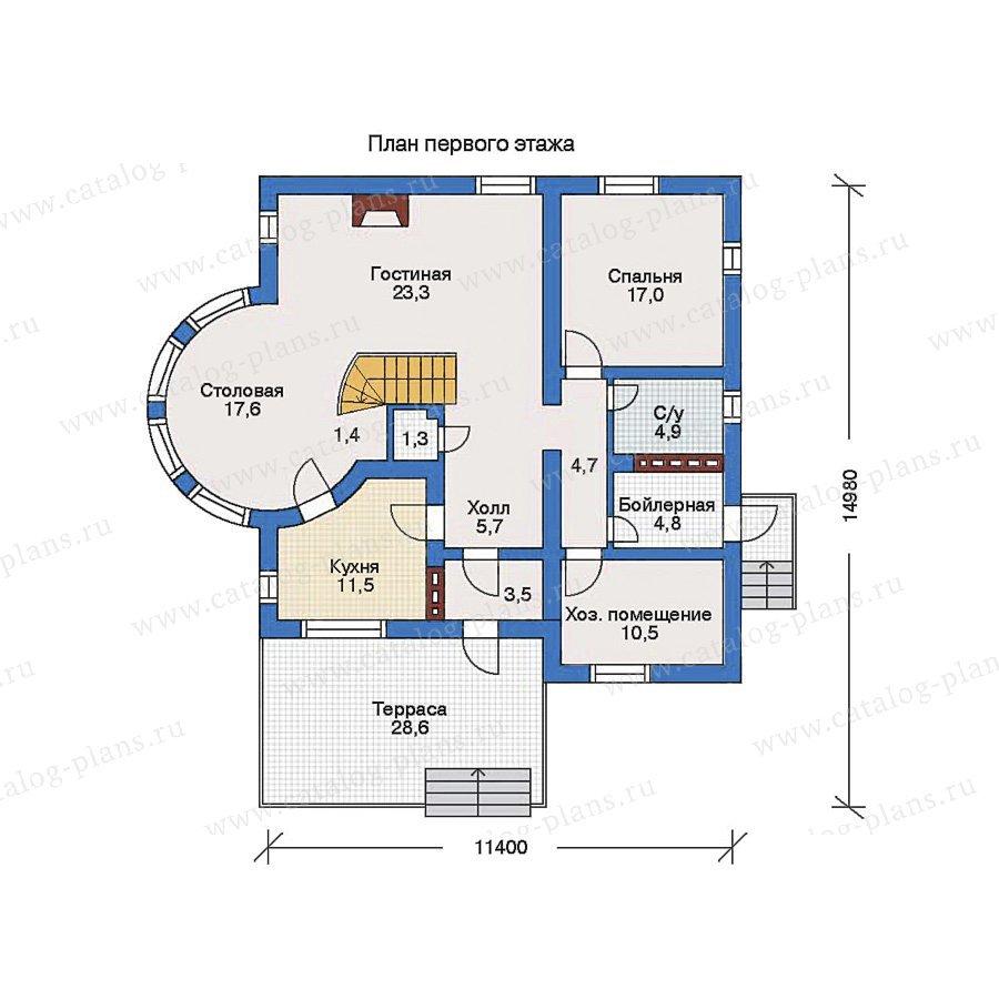 План 1-этажа проекта 31-06