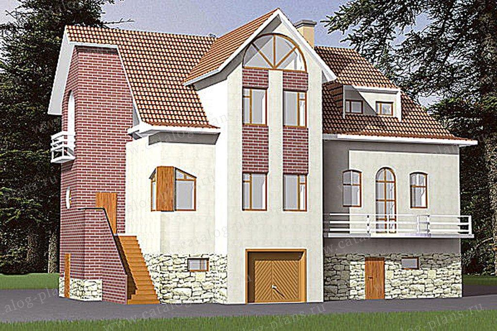 Проект жилой дом #31-03 материал - кирпич, стиль европейский