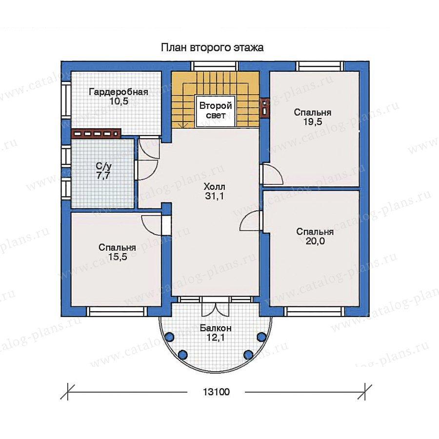 План 2-этажа проекта 31-80
