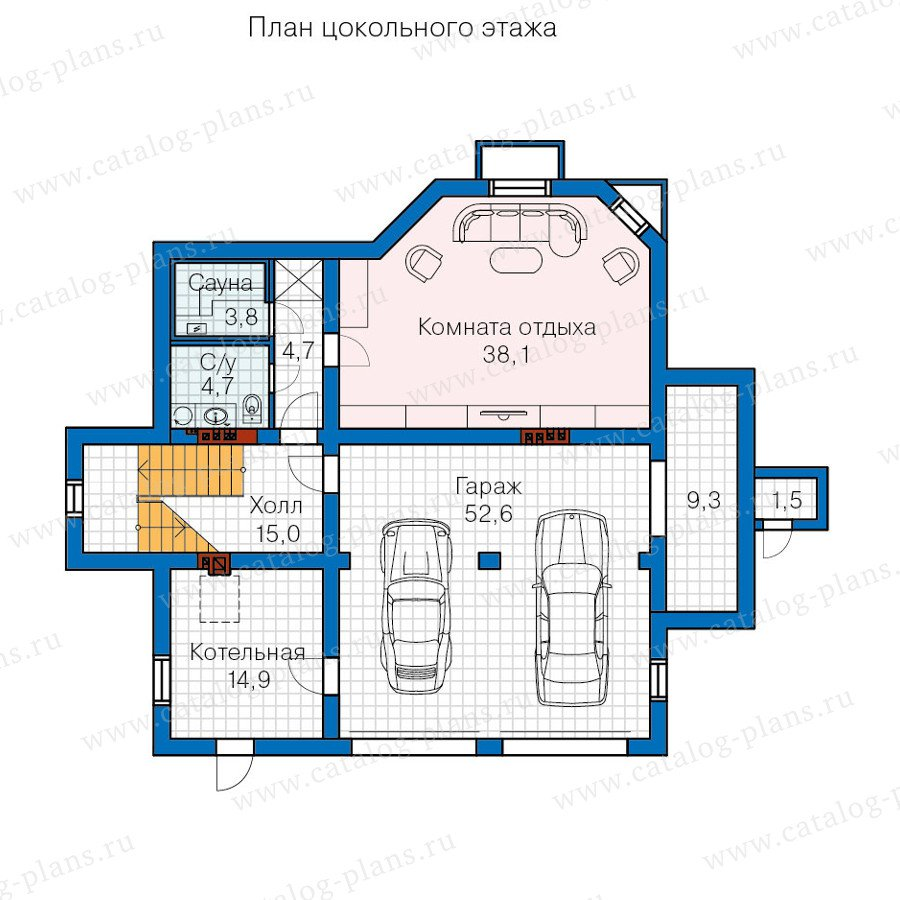 План 1-этажа проекта 60-13
