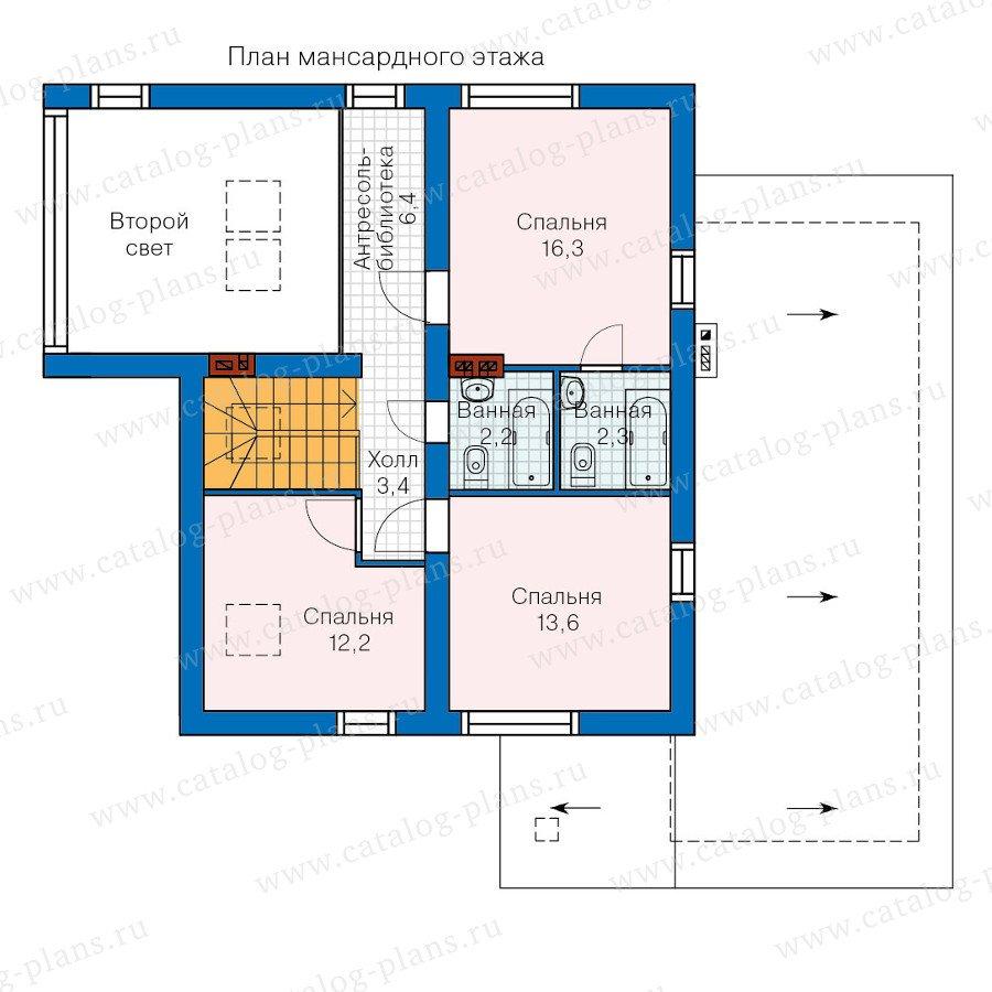 План 2-этажа проекта 60-20