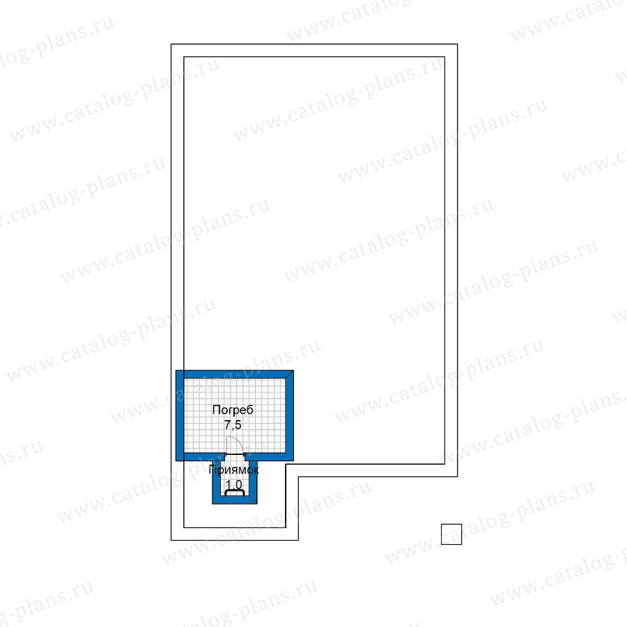 План 1-этажа проекта 59-89