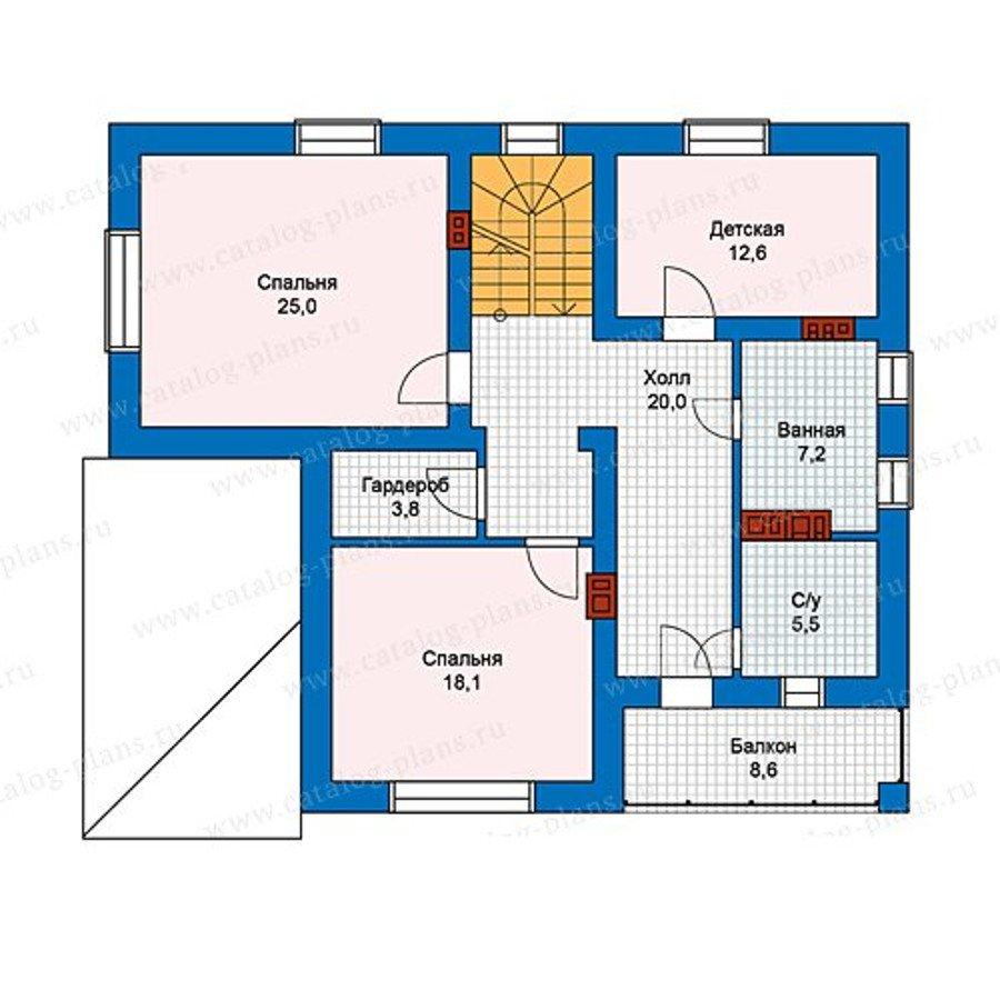 План 2-этажа проекта 59-84L