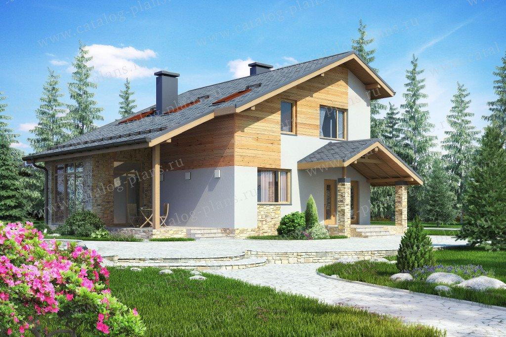 Проект жилой дом #60-19 материал - газобетон, стиль скандинавский