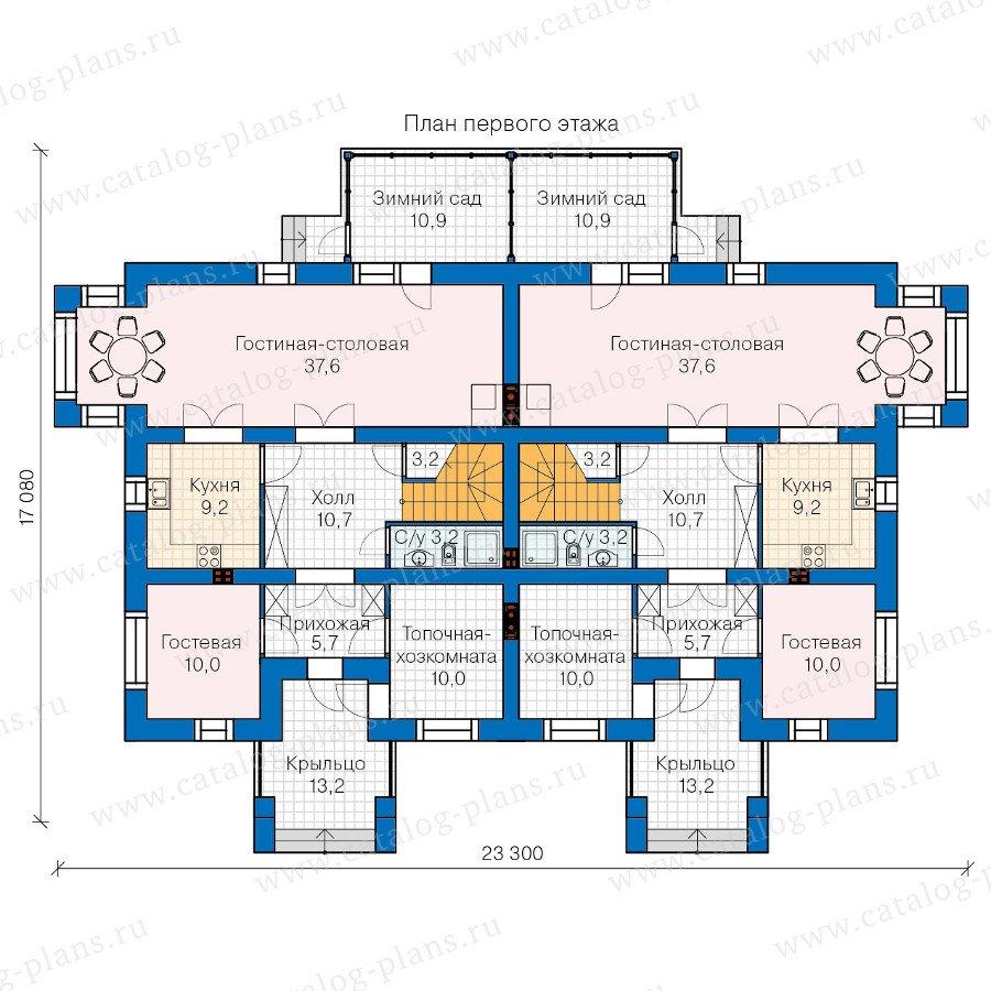 План 1-этажа проекта 60-10