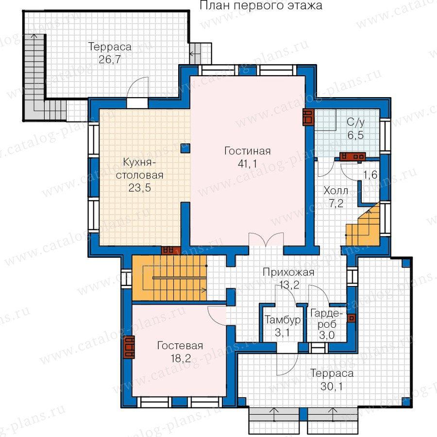План 2-этажа проекта 59-86K