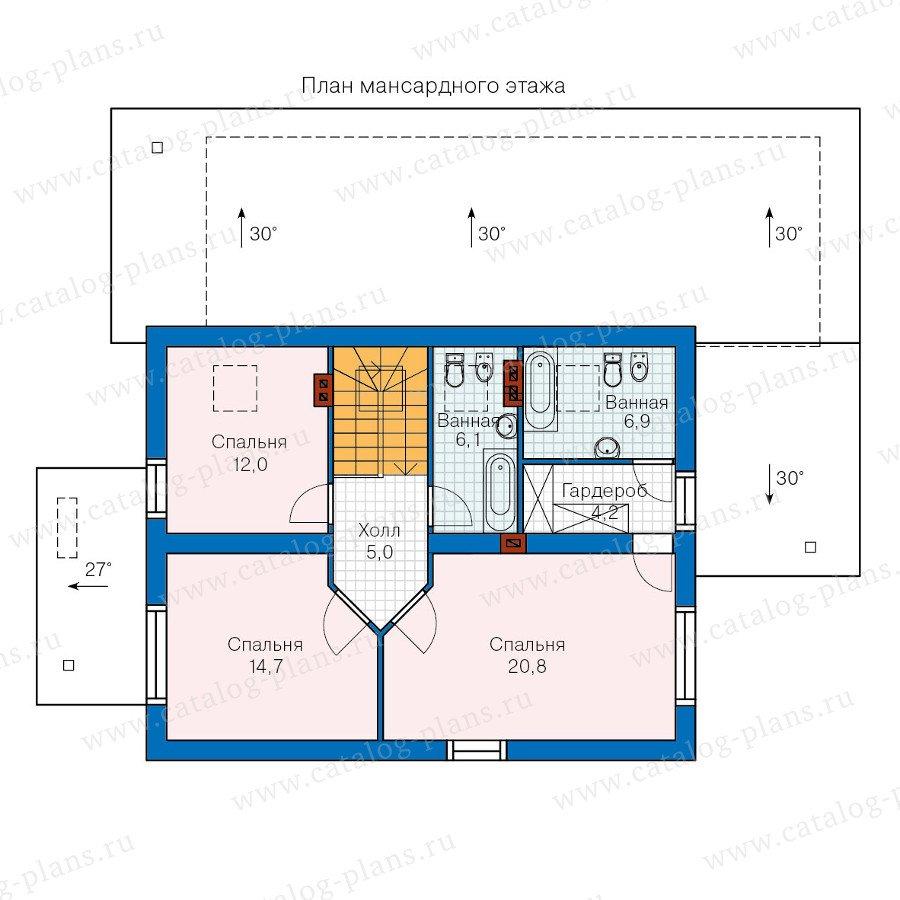 План 2-этажа проекта 60-18