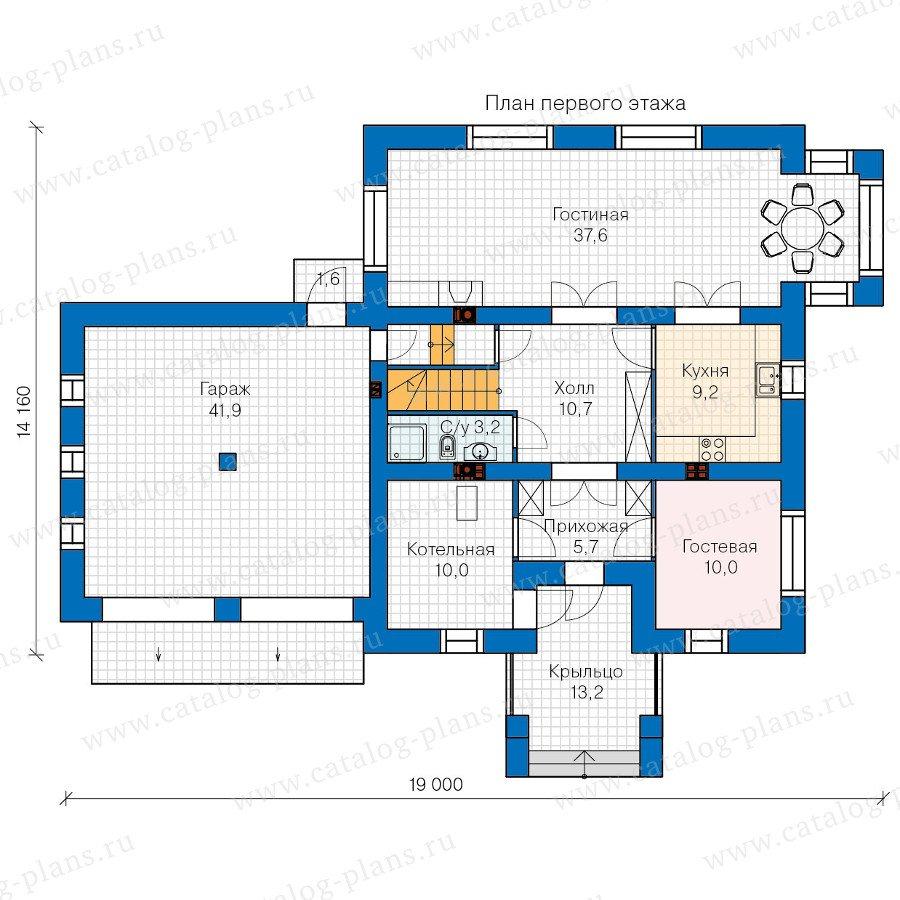 План 1-этажа проекта 60-09
