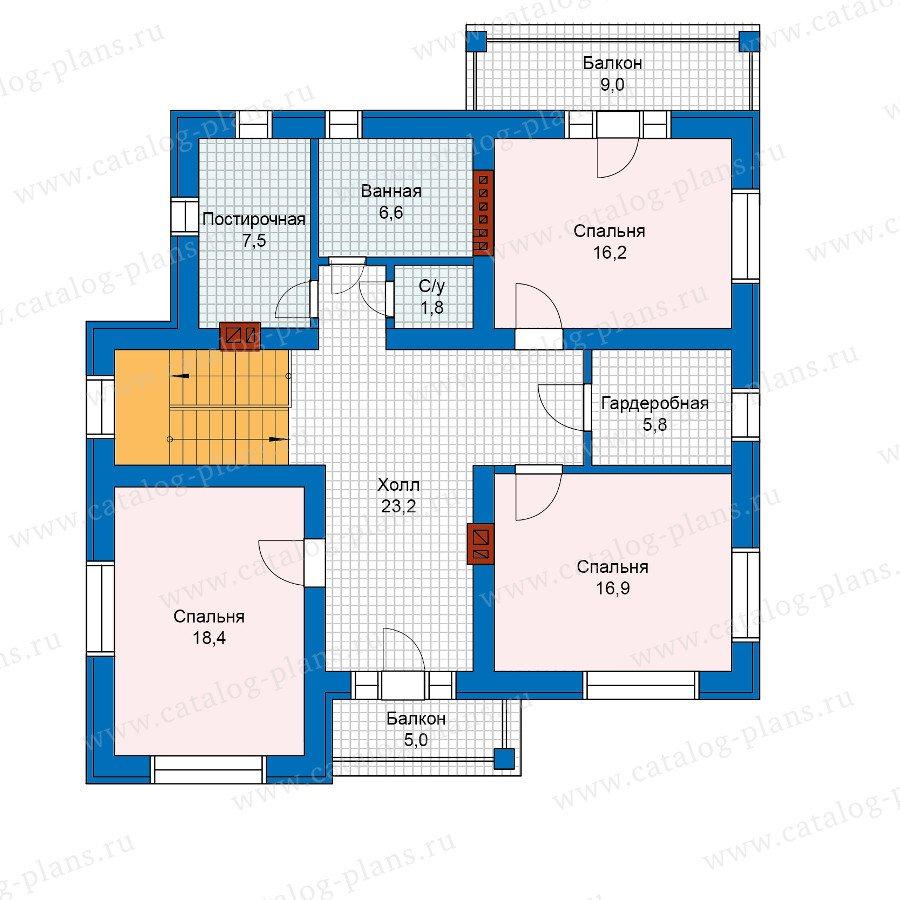 План 2-этажа проекта 59-95KL