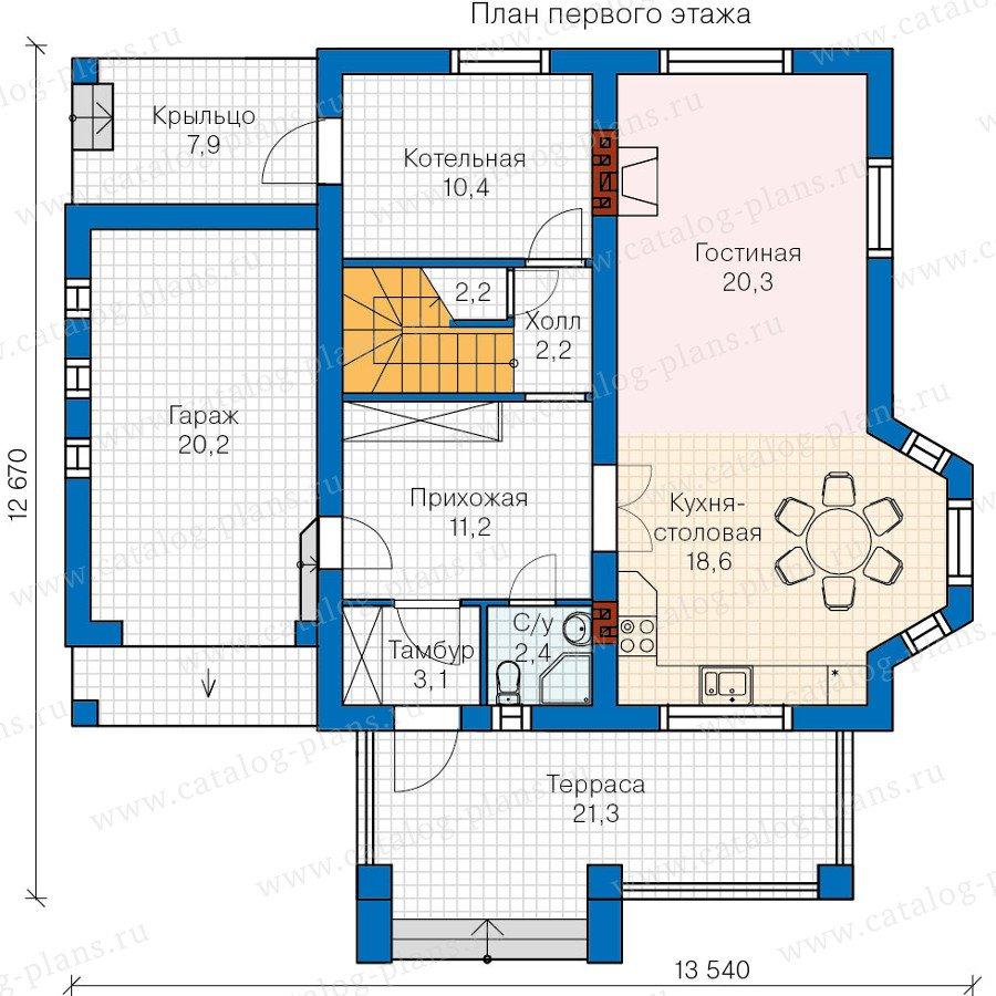 План 1-этажа проекта 60-12