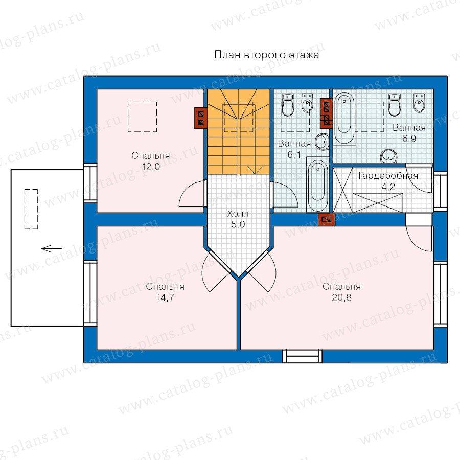 План 2-этажа проекта 60-16