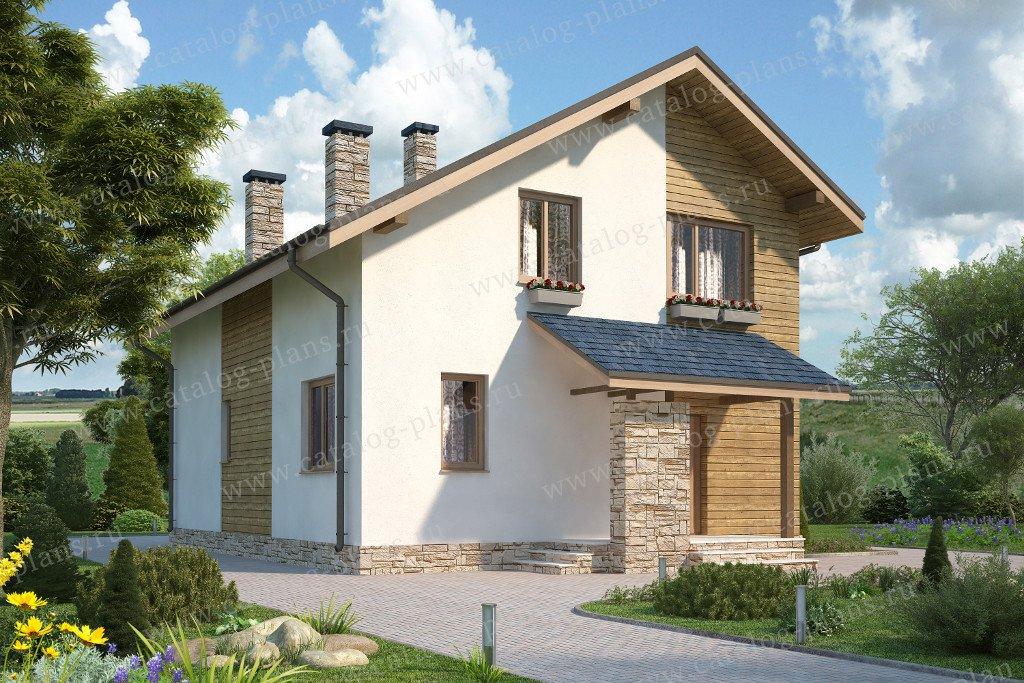 Проект жилой дом #60-16 материал - газобетон, стиль современный