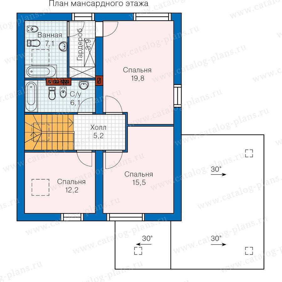 План 2-этажа проекта 60-17