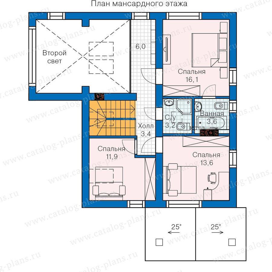 План 2-этажа проекта 60-19