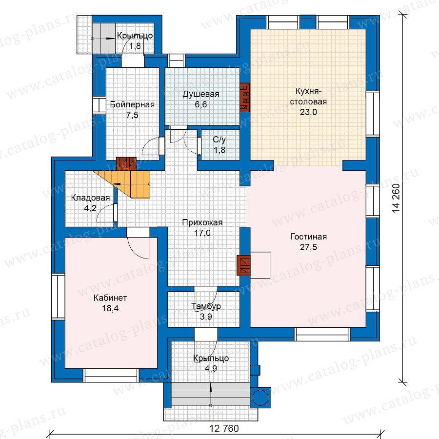 План 1-этажа проекта 59-95KL