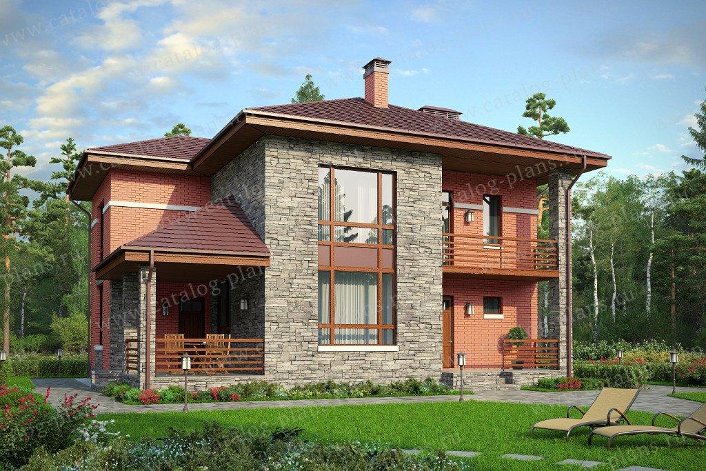 Проект жилой дом #59-84L материал - газобетон, стиль современный