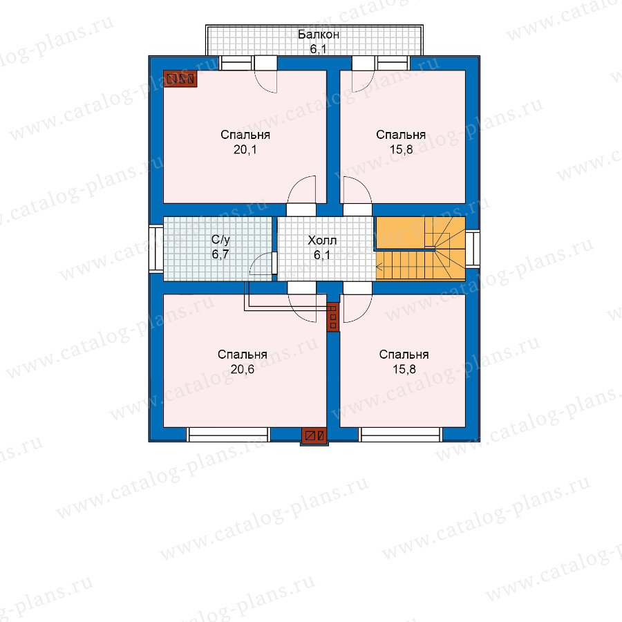 План 2-этажа проекта 59-98AK