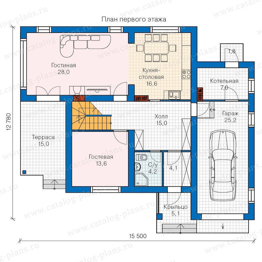 План 1-этажа проекта 60-20