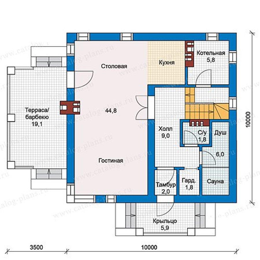 План 1-этажа проекта 59-79C