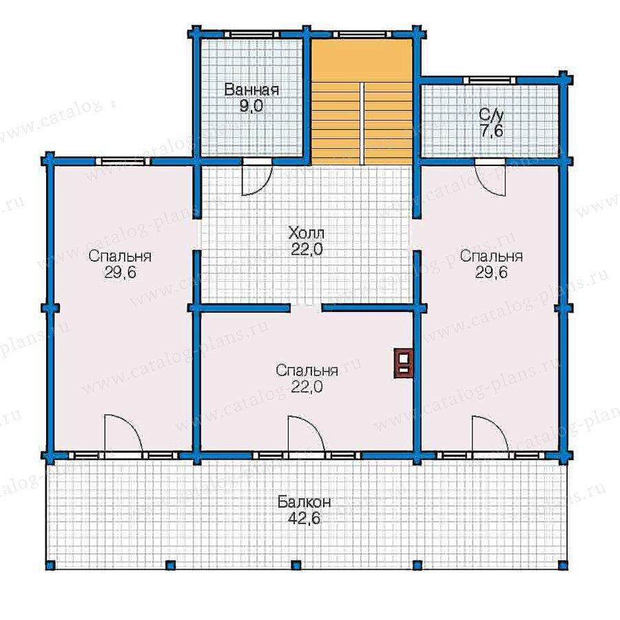 План 2-этажа проекта 13-04