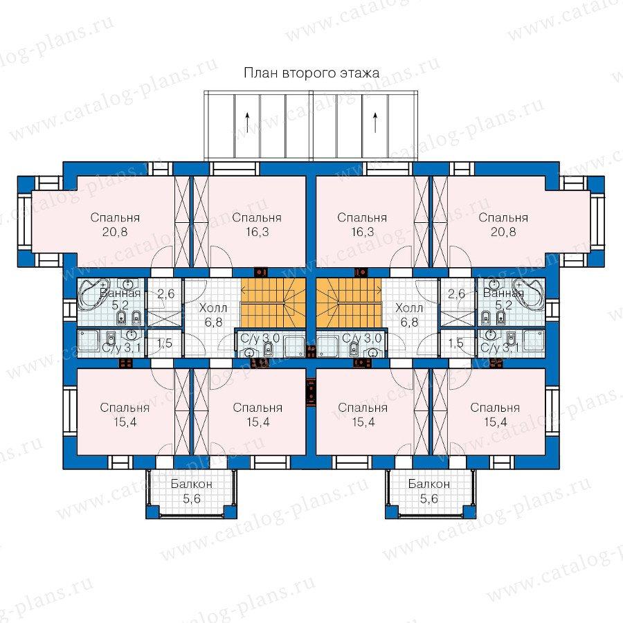План 2-этажа проекта 60-10