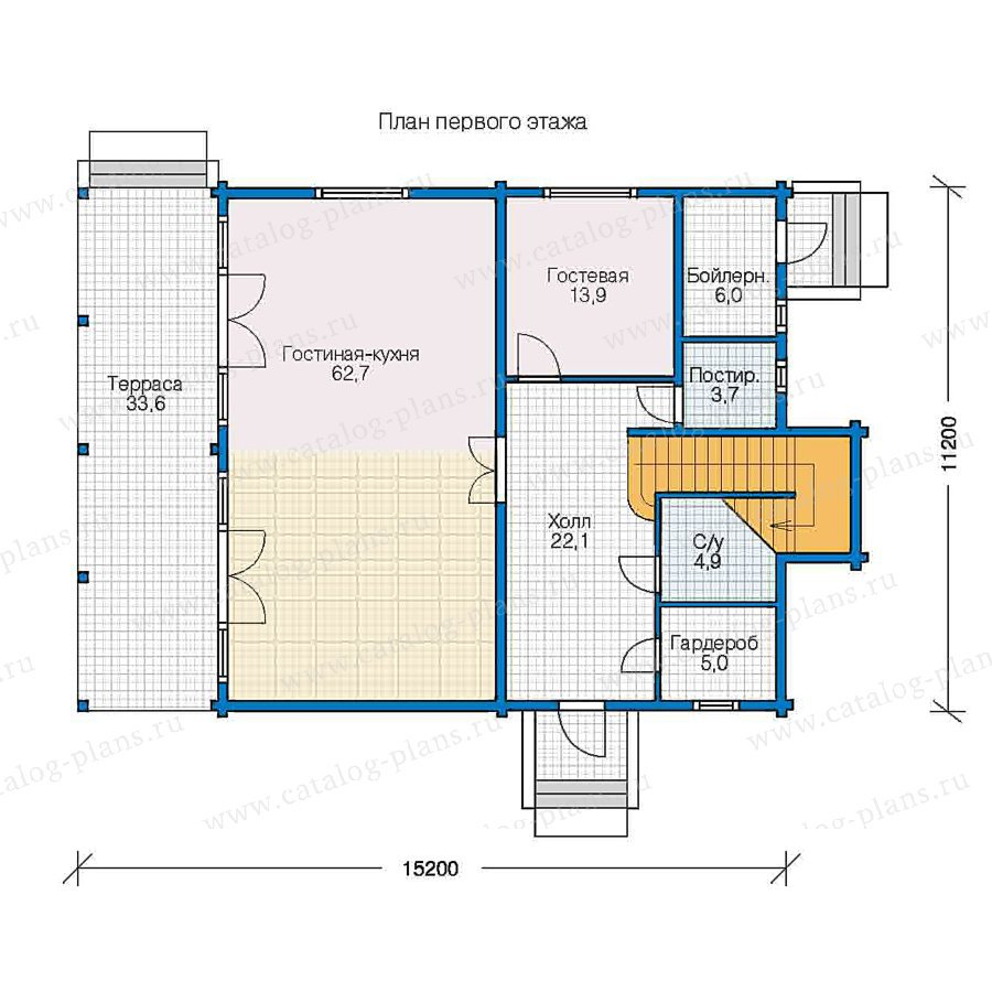 План 1-этажа проекта 13-05