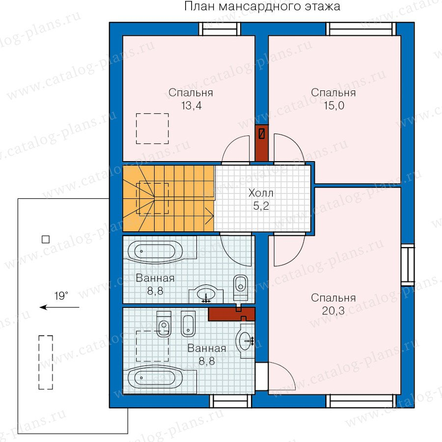 План 2-этажа проекта 60-15