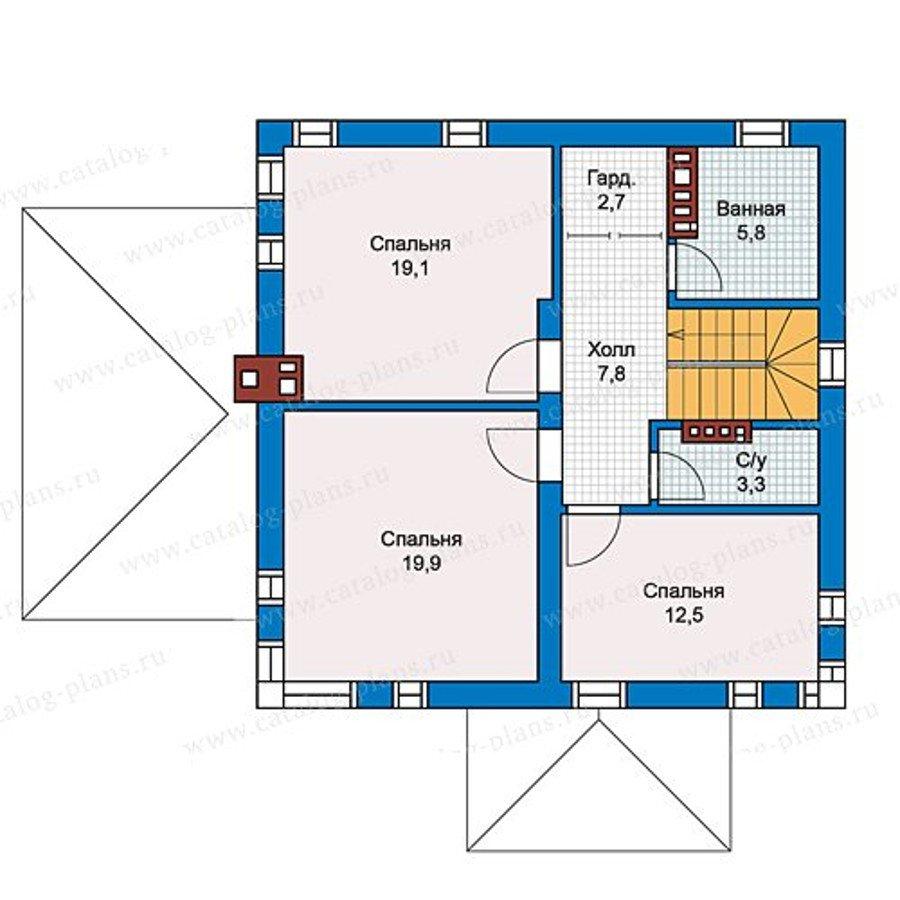 План 2-этажа проекта 59-79C
