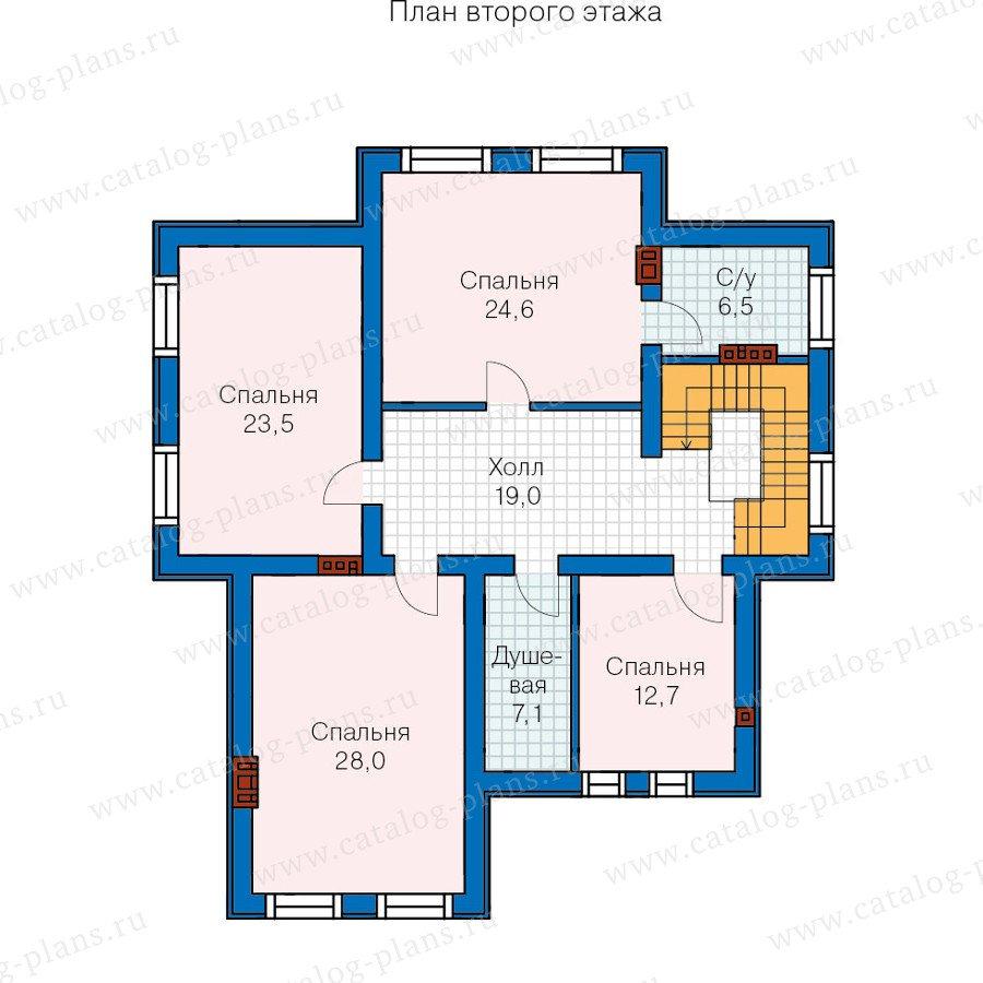 План 3-этажа проекта 59-86K