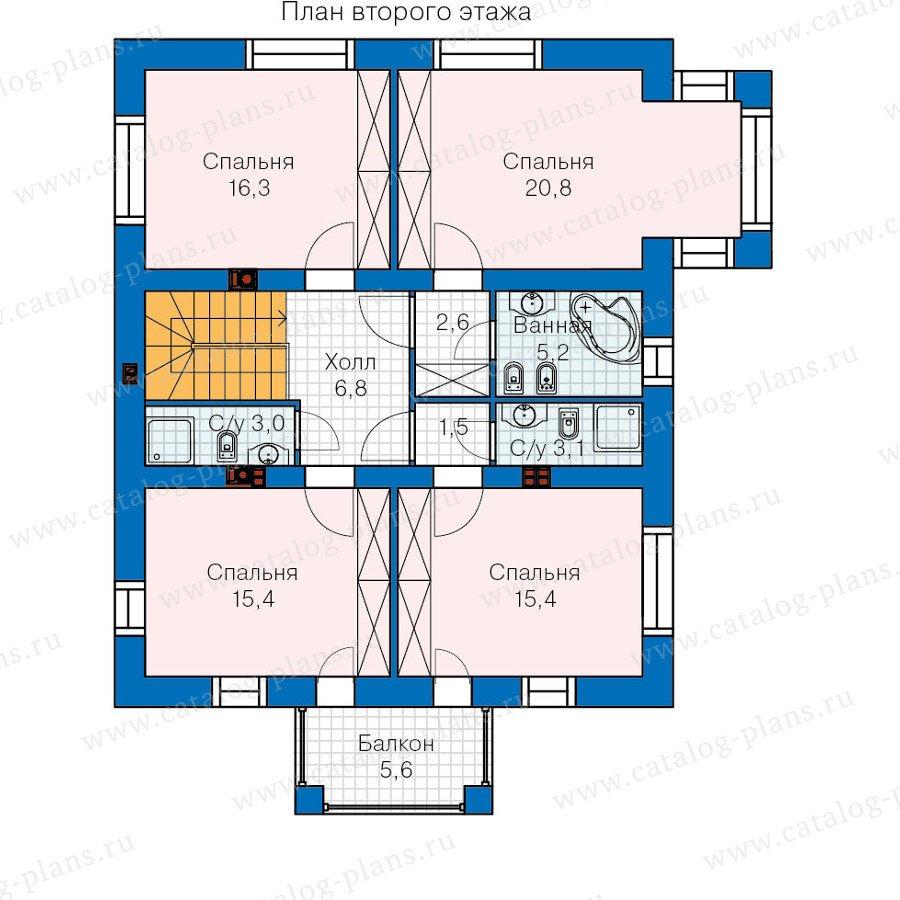 План 2-этажа проекта 60-09