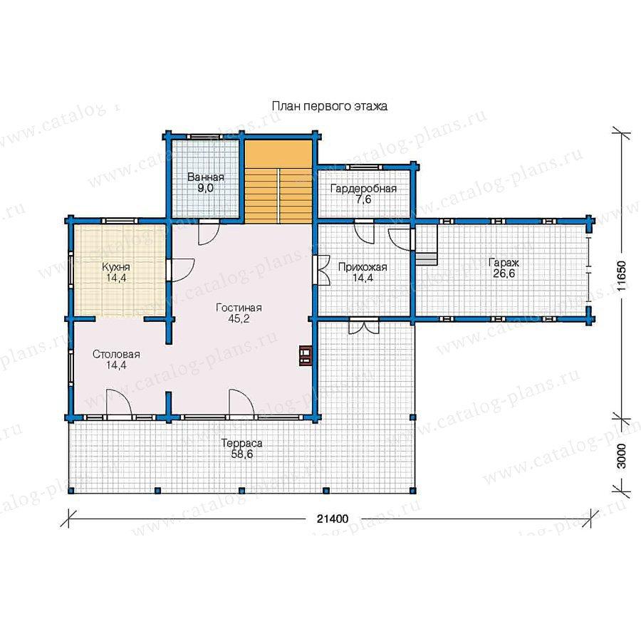 План 1-этажа проекта 13-04