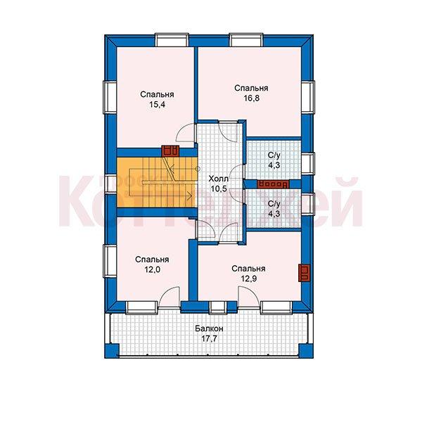 План 2-этажа проекта 59-90K