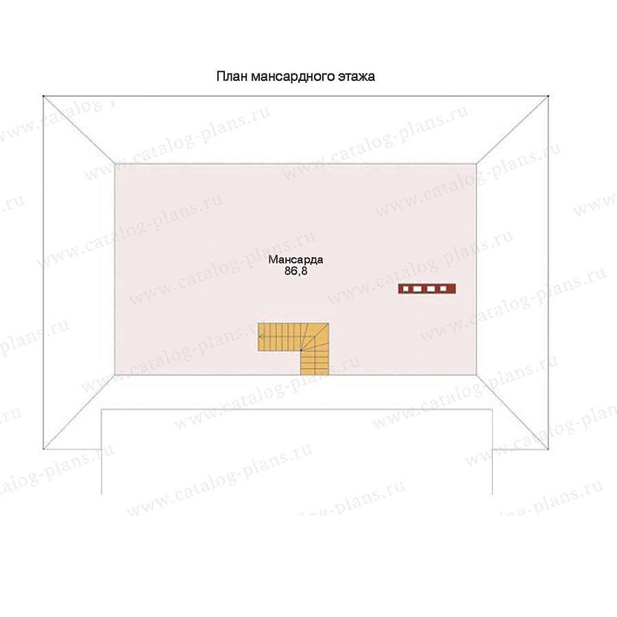 План 2-этажа проекта 32-28