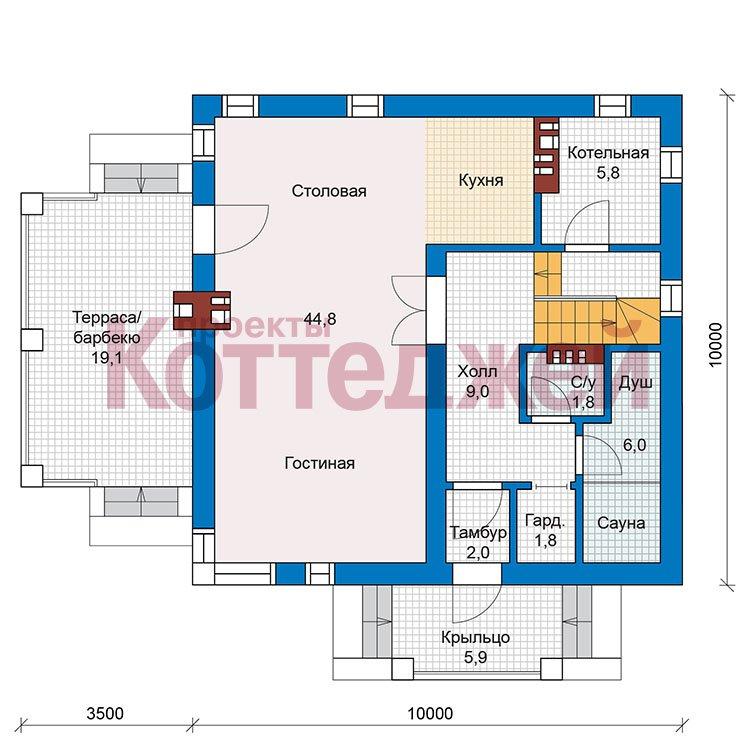 План 1-этажа проекта 59-79