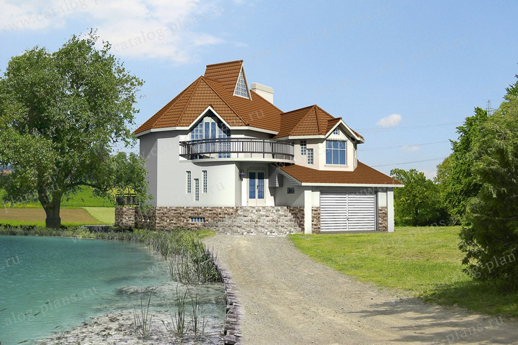 Проект жилой дом #32-24 материал - кирпич, стиль европейский